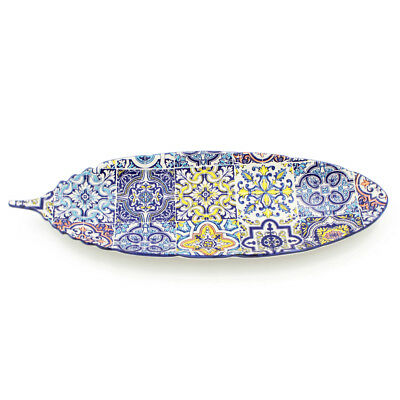 Hand-painted Traditional Portuguese Ceramic Leaf Dish