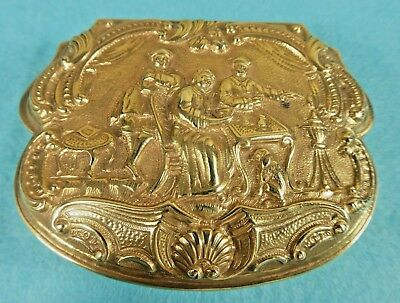 Italian 18 Carat Gold Box Rococo Style Living Room Family Friend Tea Dog C1820