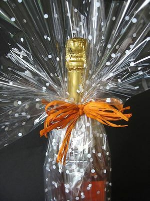 1-2 Mtrs Clearance Cellophane Gift Wrap End Of Roll + Free Ribbon Bargain Price