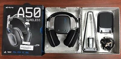 Astro A50 2nd Gen Wireless Gaming Headset + Base Station A50 Black/Blue Ps4 Ps3
