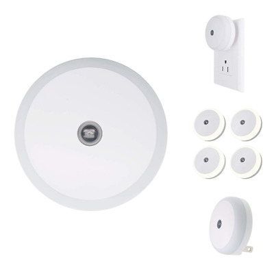 4-Pack LED Night Light Plug-in Lights with Advanced Dusk to Dawn Sensor Round US