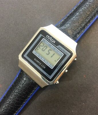 Vintage Otron Quartz LCD Watch, Stainless Steel, New Old Stock