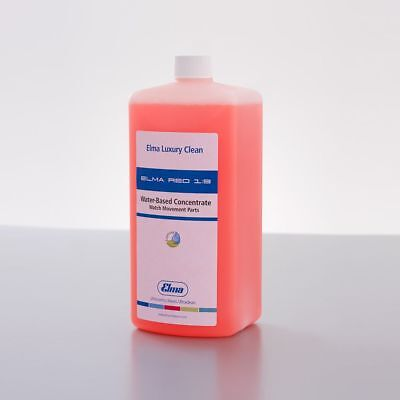 Elma Cleaning Concentrate Red 1:9 , for Disassembled Watches 1.0 Ltr. Ultrasonic
