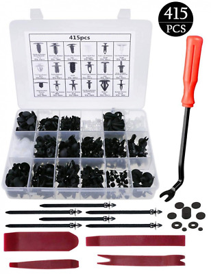 Car Retainer Clips Plastic Fasteners Kit with Removal Tools Auto Push Pin NEW US