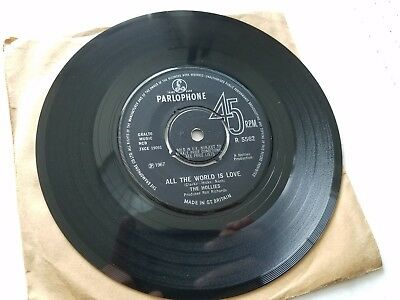 The Hollies - On A Carousel / All The World Is Love 1967 UK Pop Psych Parlophone