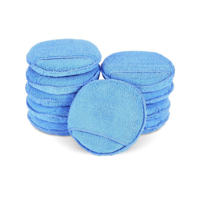 Car Microfiber Wax Applicator Pads with pocket Clean Cleaning For Pack of 10Pcs