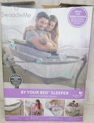 SwaddleMe By Your Bed Inclined Bedside Sleeper Babies Infants Sleep Comfort Safe