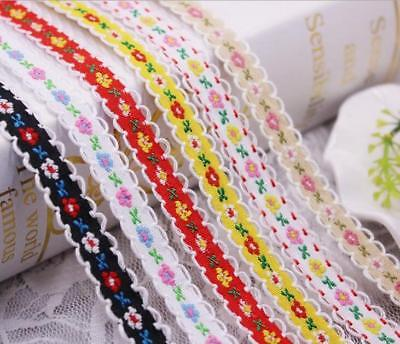 2 Yards Embroidered Trims Vintage Ribbon Laces Decorative Sewing Trims DIY Cloth