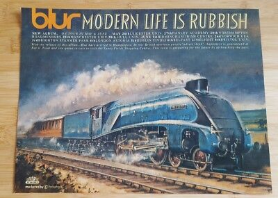 Original  blur magazine print ad for album modern life is rubbish. 23cm x29cm