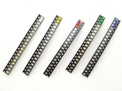 100 pcs LED SMD 0805 water clear, 20 pcs each Red Green Blue Yellow White  #3003