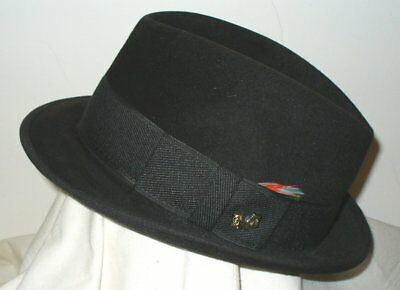 VINTAGE DUNLAP NEW York Supreme BLK Fedora HAT Sz 7 IMMACULATE ... 623b7992db3