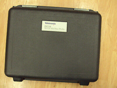 Tektronix P6716 Logic Analyzer Probe 16 CH PCI Express Mid-Bus With Carry Case