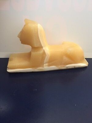 Egyptian Sphinx Alabaster Stone Carved
