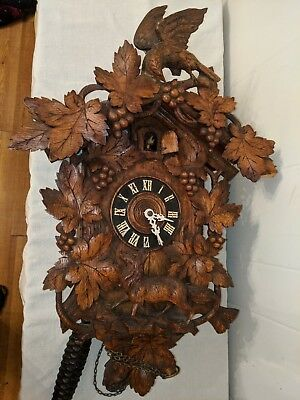 Antique Black Forest Cuckoo Clock Fox And Grapes Project