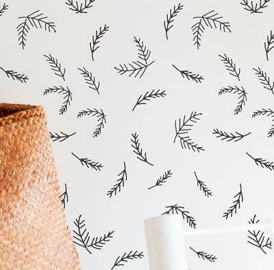 Pine Sprig Wall Stencil for Painting