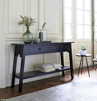 Large Console Table Solid Mahogany Wood Vintage Hallway Furniture 2 Side Drawers