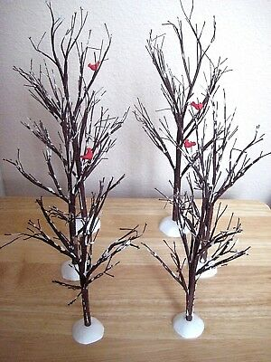Dept 56 Christmas Village Bare Branch Trees, Set of 6, In Box, #52623