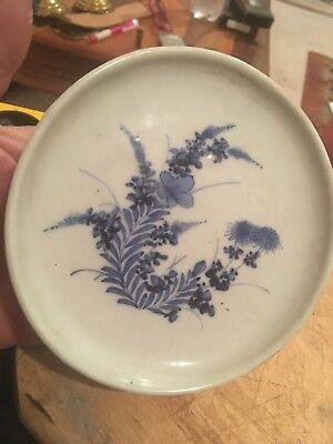 Antique Chinese Plate Blue And White 13 Cm