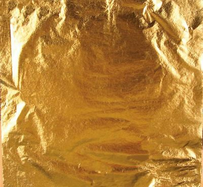 Gold Leaf Sheets - German - Composition - 5 inch x 5 inch - 25 sheets per pack