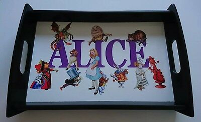 Alice in Wonderland Wooden Tea Tray