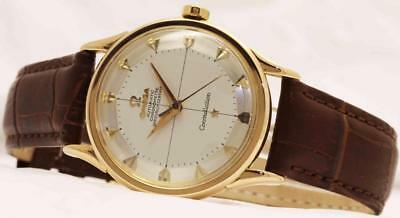 Vintage Omega Constellation Chronometer 18k Rose Gold Piepan Dial