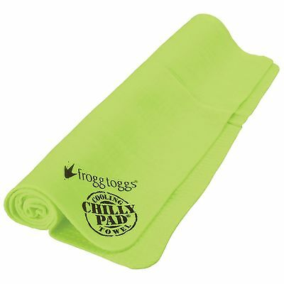 Frogg Toggs Chilly Pad HiVis Lime Green, High Visibility Original Cooling Towel