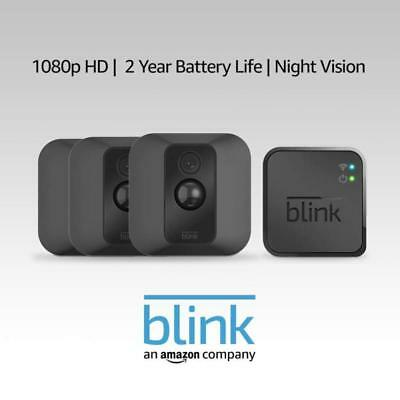 Blink XT Home Security Camera System with Motion Detection, Wall Mount, HD Video