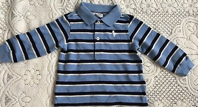 New Ralph Lauren Baby Boys Long Sleeves Polo Shirt 9M