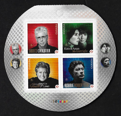 Canada Stamps — Pane of 4 (Half of Booklet) — 2011 Recording Artists #2483 — MNH