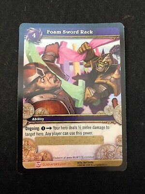Foam Sword Rack Loot Card World Of Warcraft Wow Tcg Nerf Duel Rare
