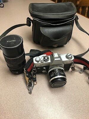35mm Canon Camera And Lens For Parts