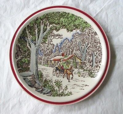 "Vernon Kilns Bits of Old New England OLD DOBBIN 8.5"" Ultra Plate (c. 1940s)"