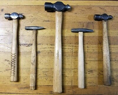 VINTAGE Blacksmith Hammers Lot • Forge Anvil Woodworking Tools Tinsmith ☆USA