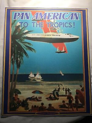 """Pan American Poster To The Tropics Poster 16"""" x 20"""""""
