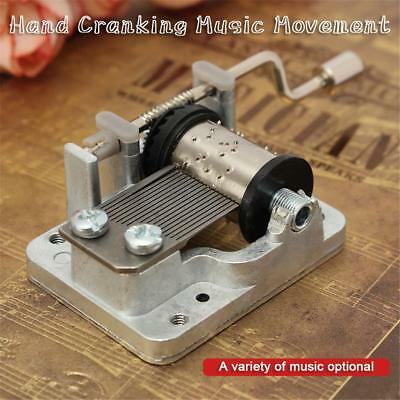 Hand Crank Movement Music Box Baby Toy Birthday Xmas Gift DIY Kids Craft Mini