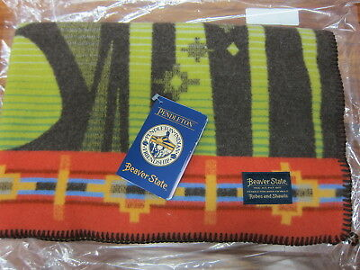 "Pendleton Woodland Neighbors Jacquard Muchacho Baby Blanket 32""x44""  Made in USA"