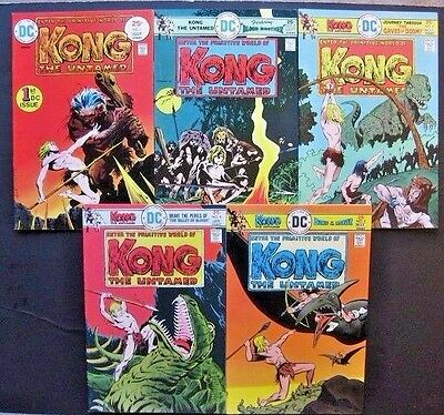 KONG THE UNTAMED # 1 2 3 4 5 (complete series) BERNIE WRIGHTSON cover art #1-2
