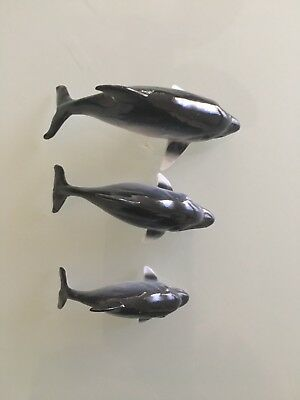 Vintage Dolphin Miniature Set Of 3