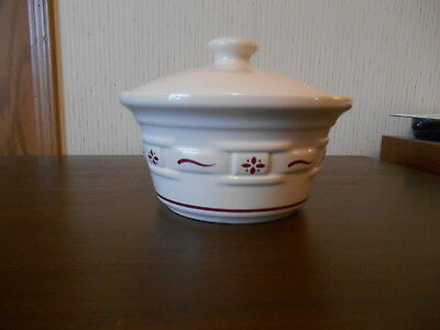 Longenberger Covered Dish w/ Cranberry design