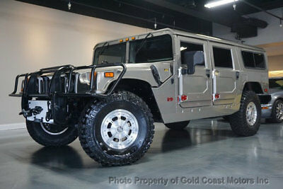 2002 HUMMER H1 4-Passenger Wagon Enclosed 2002 HUMMER H1 WAGON 6.5L TURBO-DIESEL PEWTER/BLK LEATHER ON 29K MILES XTRA CLN!