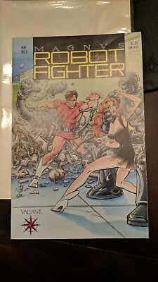 Magnus Robot Fighter (Valiant Comics) issue no #1 May 1991 Trading Cards NM NR