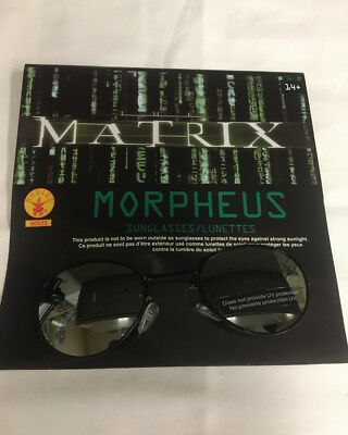 Matrix Morpheus Costume Accessory Glasses Sunglasses With Defects