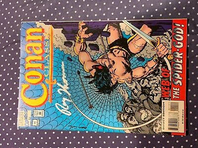 Conan Classics Direct edition comic book autographed by artist