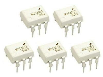 5 pcs MOC3023 Opto-Coupler DIP8 with Triac output, can switch max. 400V AC #2839