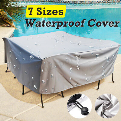 ALL SIZE Waterproof Furniture Cover Table Chair Garden Patio Cube Set Outdoor AU