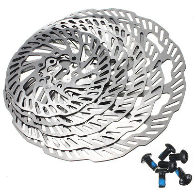 Stainless Steel MTB Bike Cycling Disc Brake Rotors 120/140/160/180/203mm & Bolts