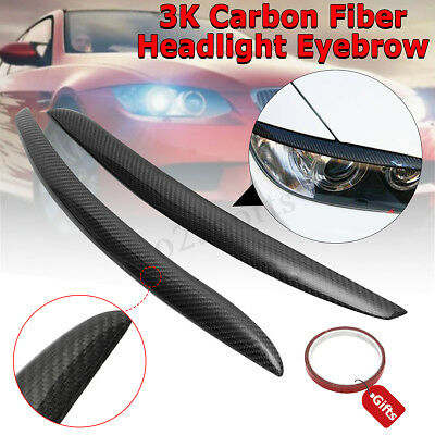 Carbon Fiber Headlight Eyelid Eyebrow For BMW E92 E93 335I 335CI Coupe M3 07-12