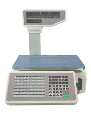Supermarket Digital Price Computing Scale Thermal Printer 110V  30lb