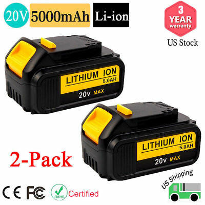 DCB205 For DeWalt 20V 20 Volt Max XR Lithium Ion Battery 5.0AH DCB204-2 DCB200 X