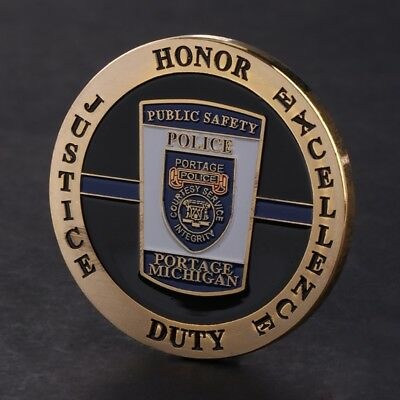 Michigan Police Chief Sergeant Commemorative Coin Collection Arts Souvenir Gift